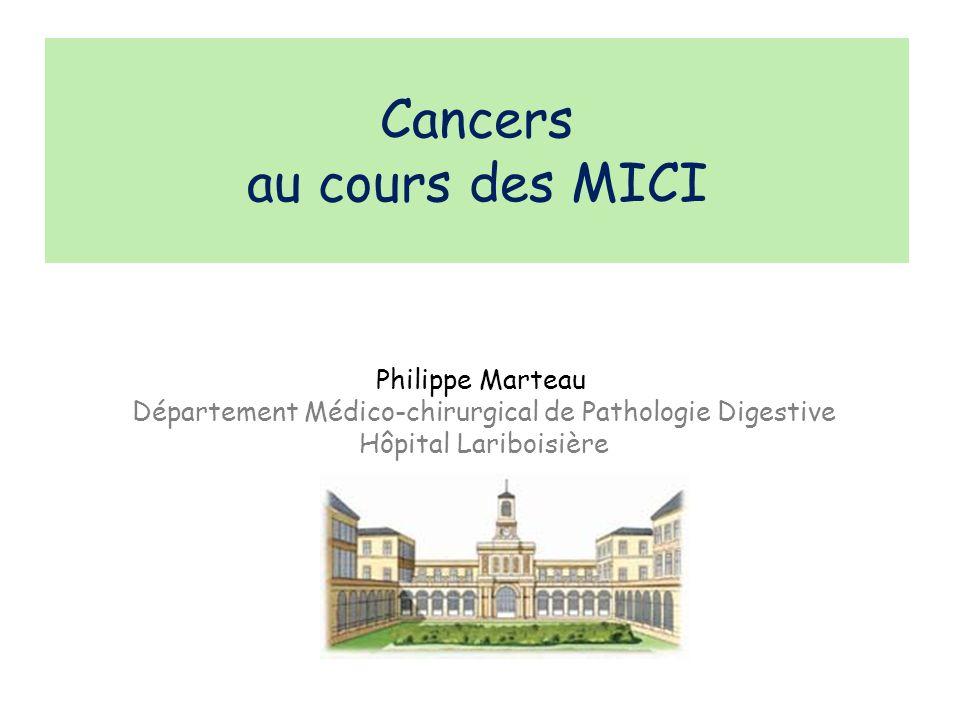 Cancers au cours des MICI