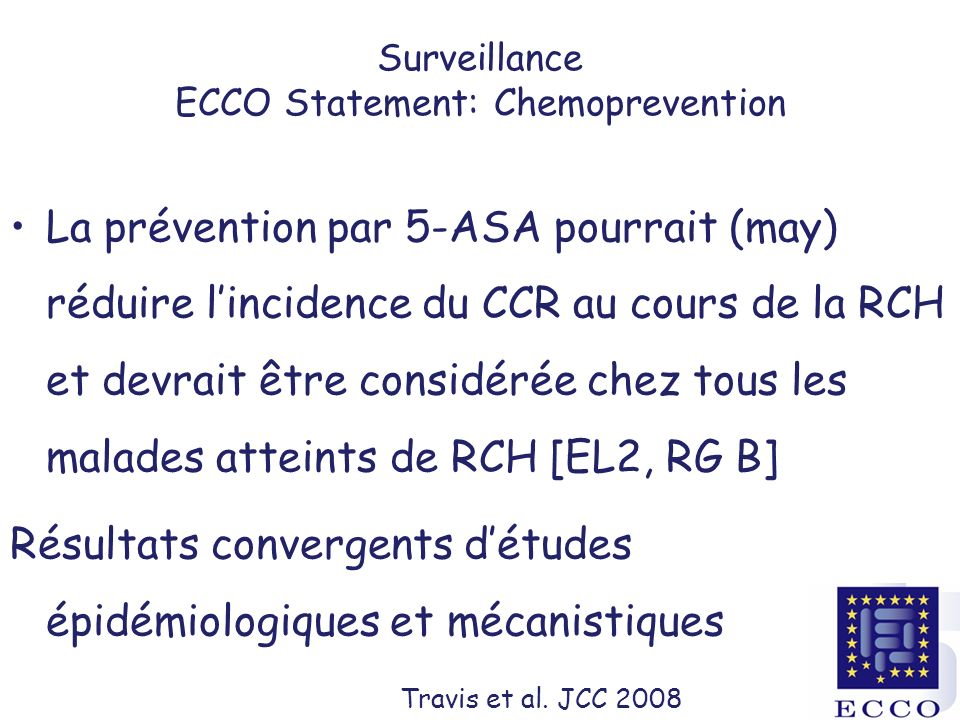 Surveillance ECCO Statement: Chemoprevention