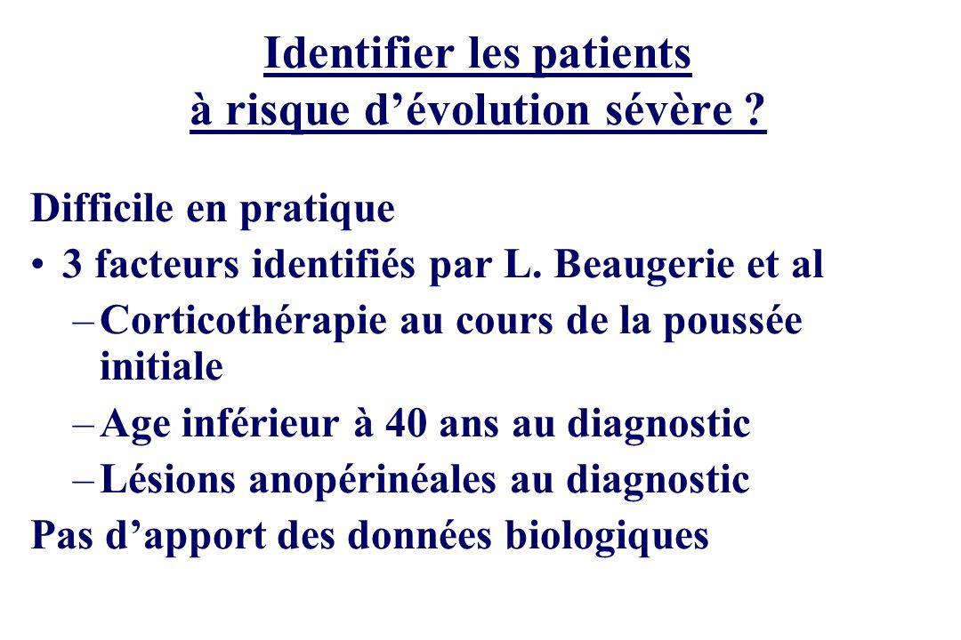 Identifier les patients à risque d'évolution sévère