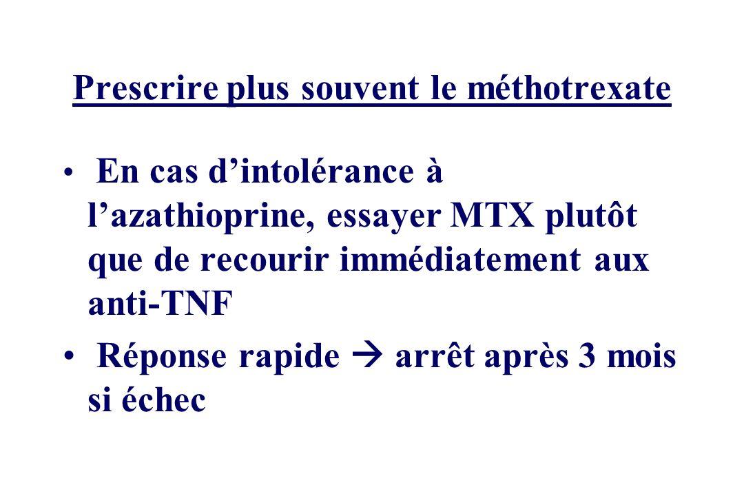 Prescrire plus souvent le méthotrexate