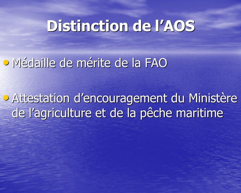 Distinction de l'AOS Médaille de mérite de la FAO
