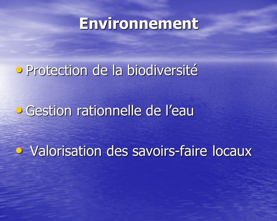 Environnement Protection de la biodiversité