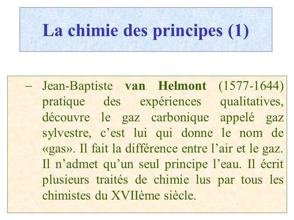La chimie des principes (1)