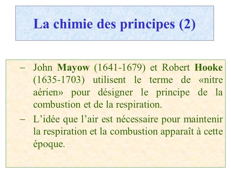 La chimie des principes (2)