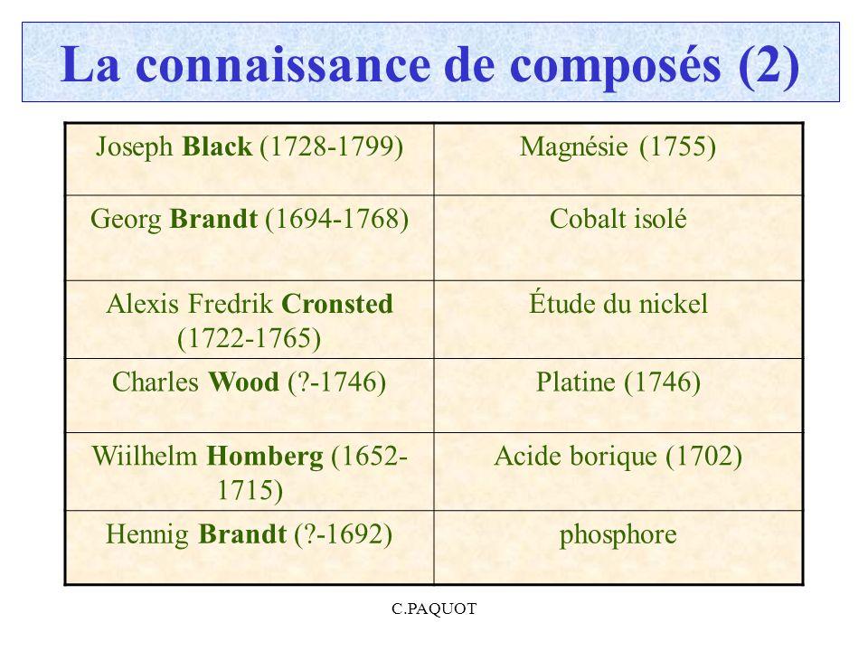 La connaissance de composés (2)