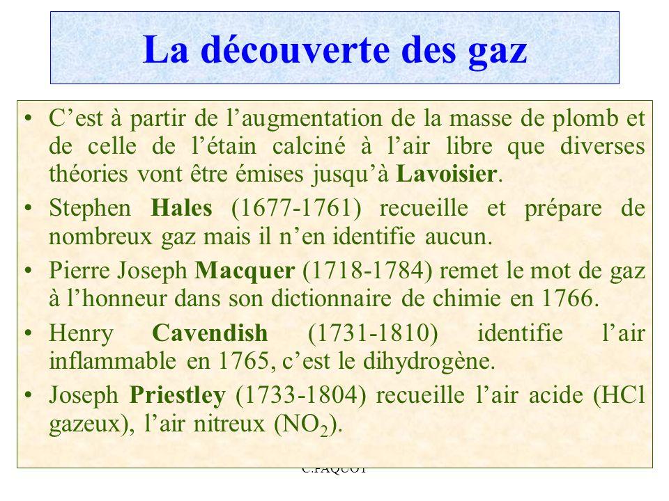 La découverte des gaz