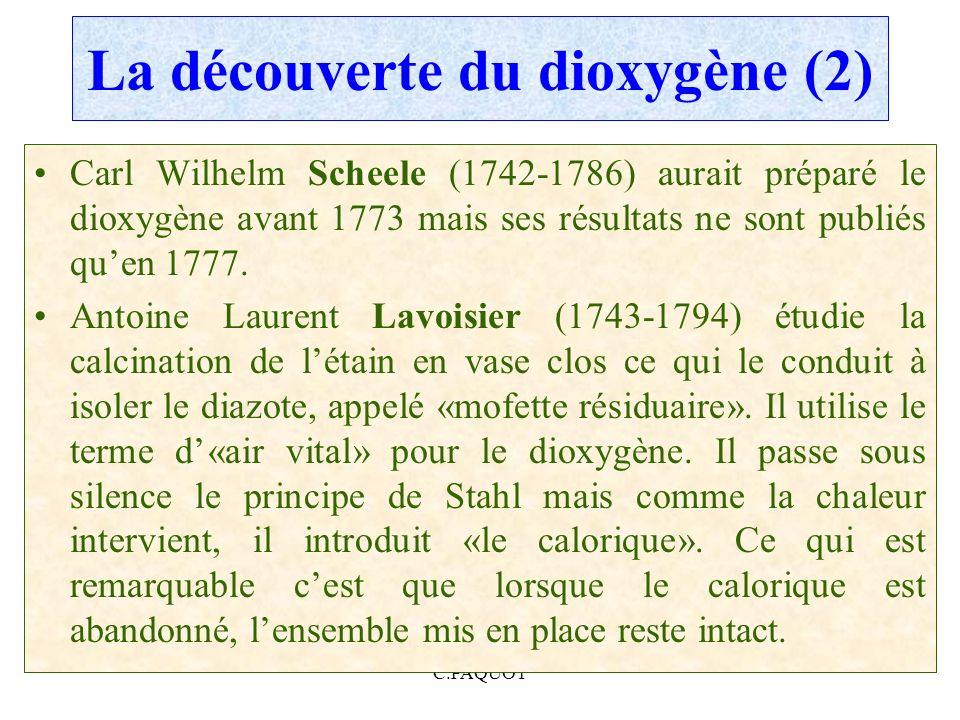 La découverte du dioxygène (2)
