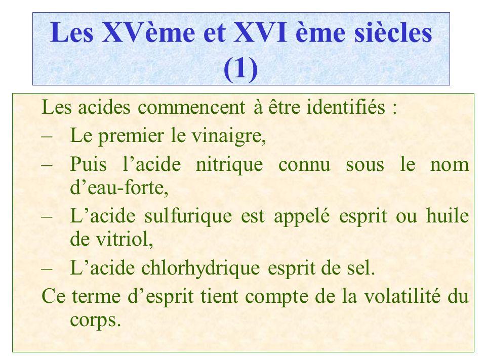 Les XVème et XVI ème siècles (1)