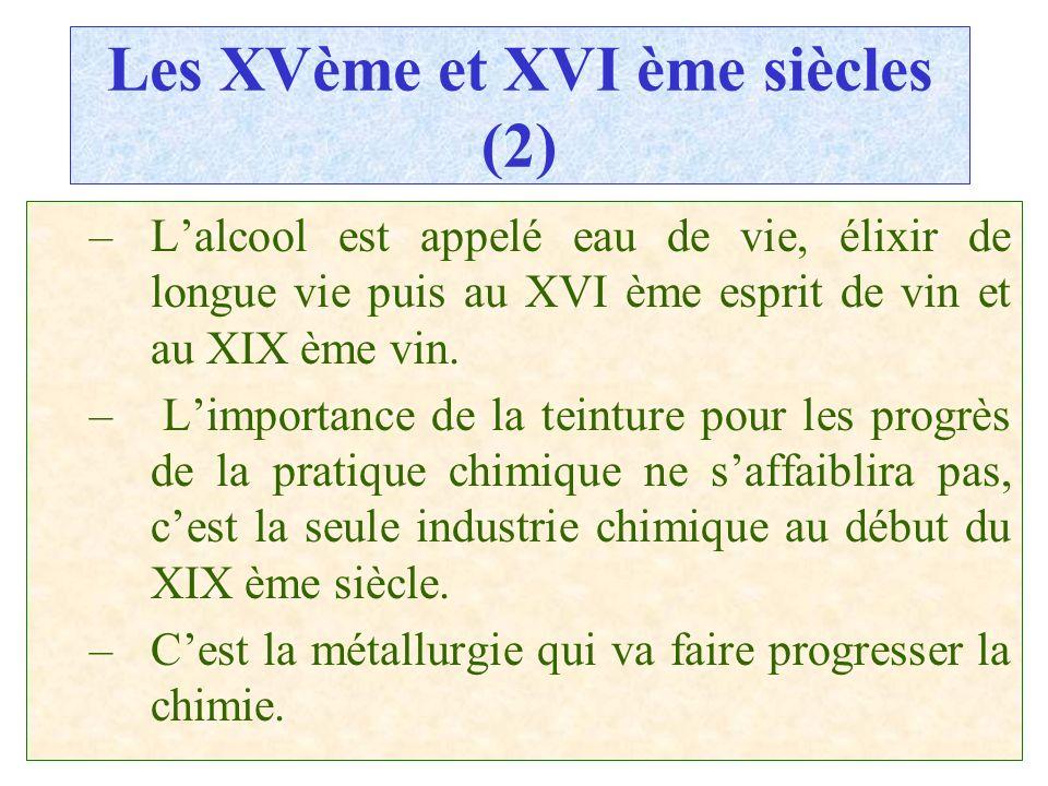 Les XVème et XVI ème siècles (2)
