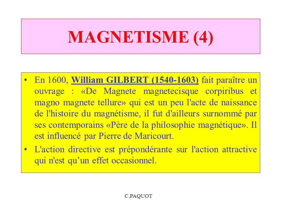 MAGNETISME (4)