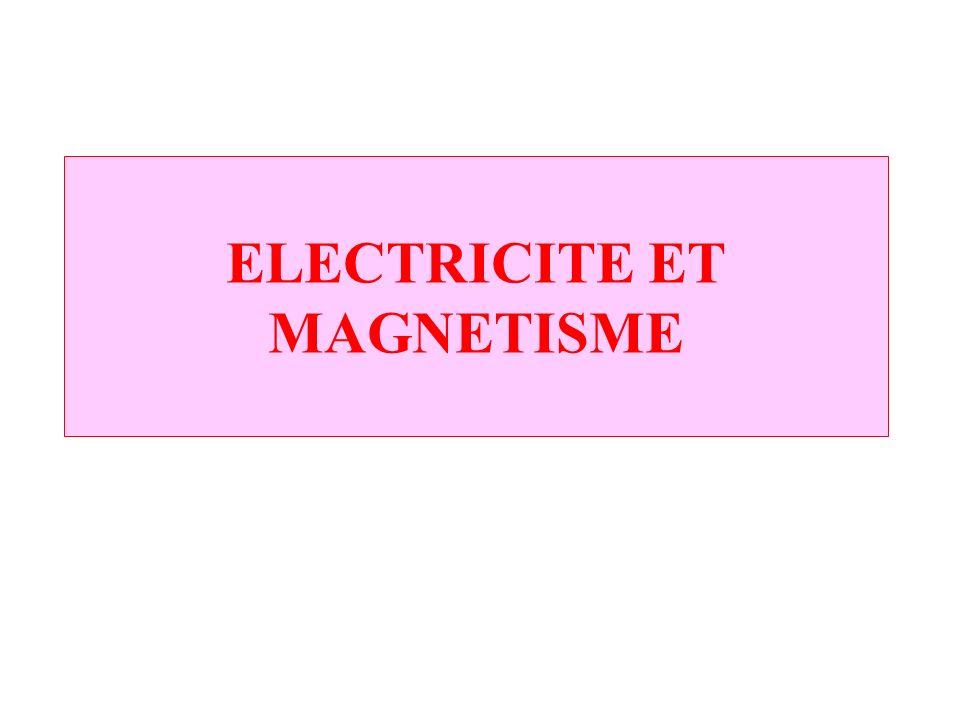 ELECTRICITE ET MAGNETISME