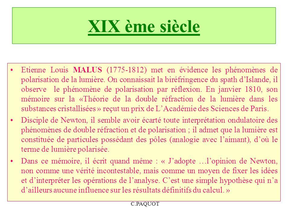 XIX ème siècle