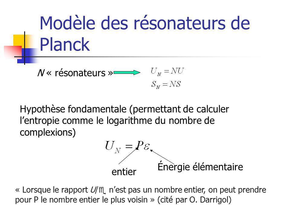 Modèle des résonateurs de Planck