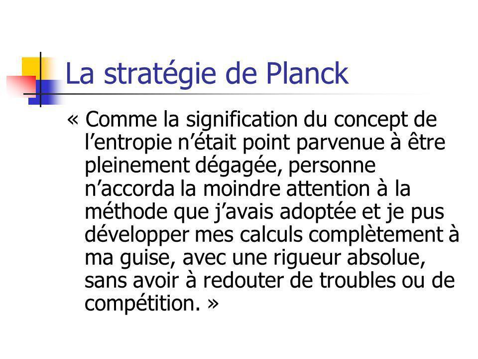 La stratégie de Planck