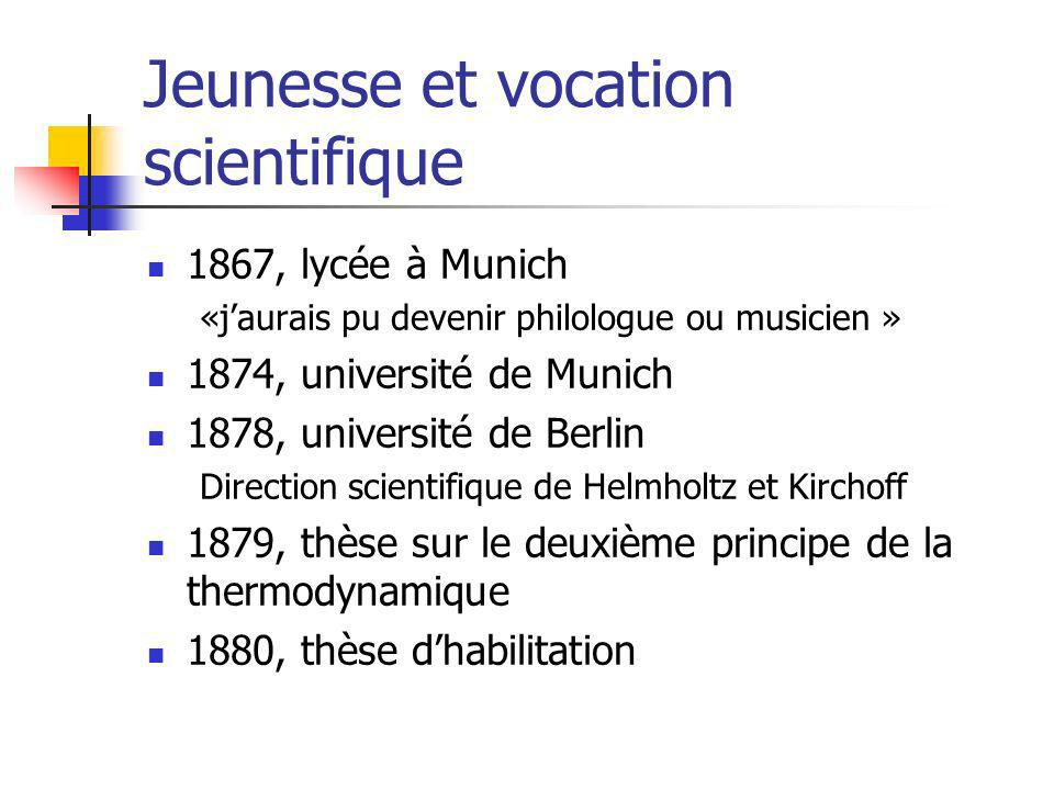 Jeunesse et vocation scientifique