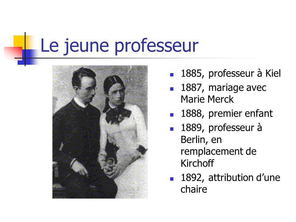Le jeune professeur 1885, professeur à Kiel