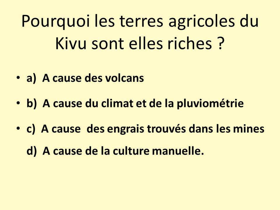 Pourquoi les terres agricoles du Kivu sont elles riches