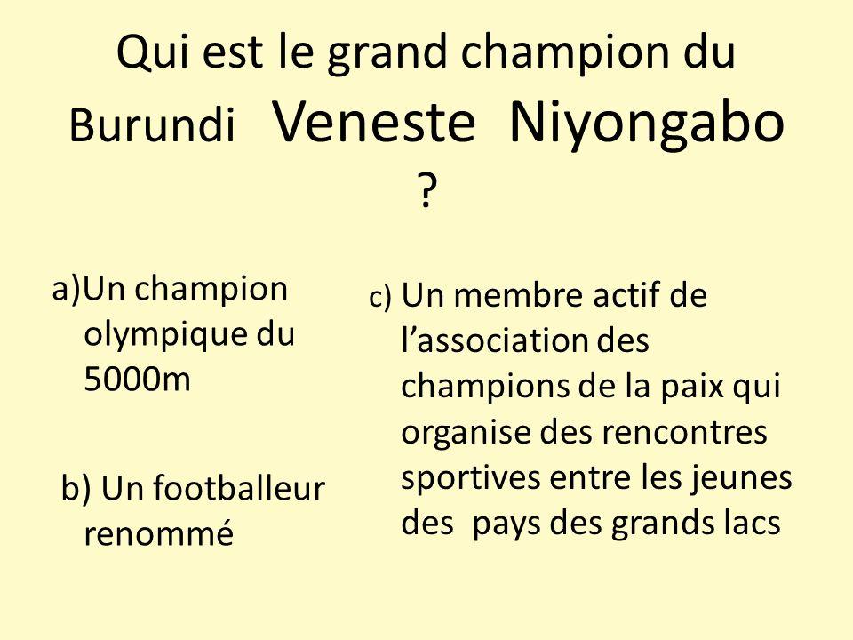 Qui est le grand champion du Burundi Veneste Niyongabo