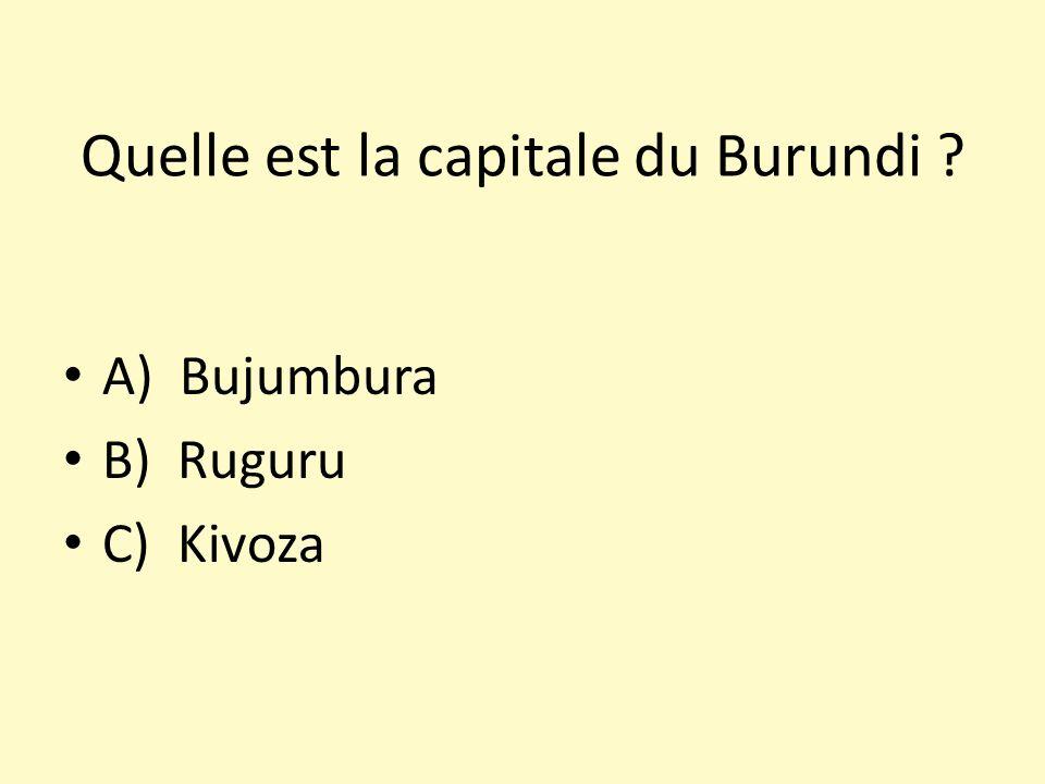 Quelle est la capitale du Burundi