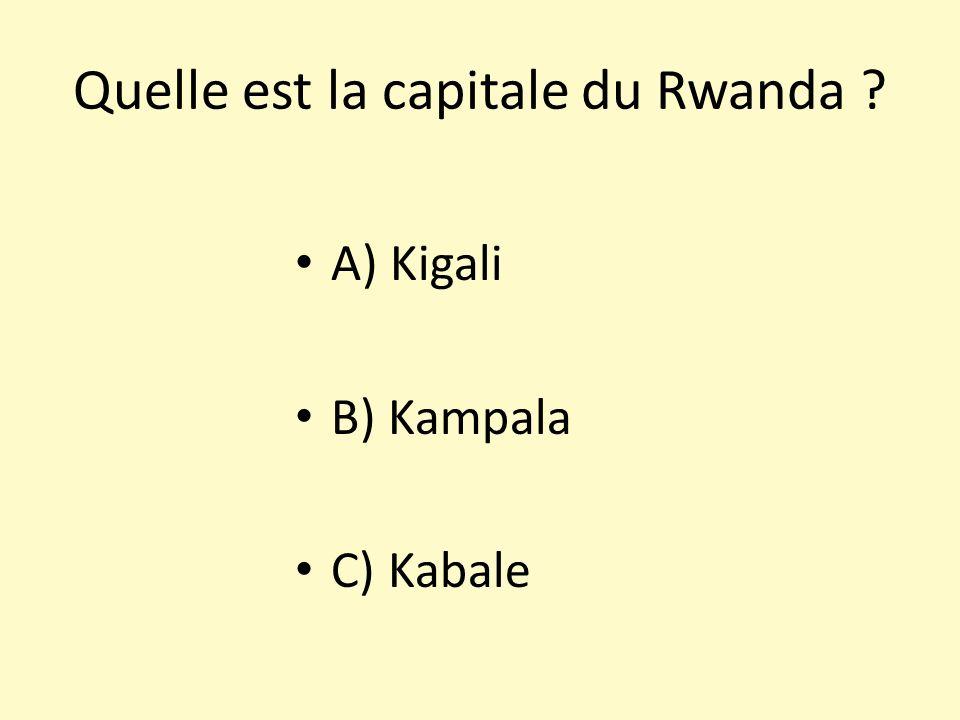 Quelle est la capitale du Rwanda
