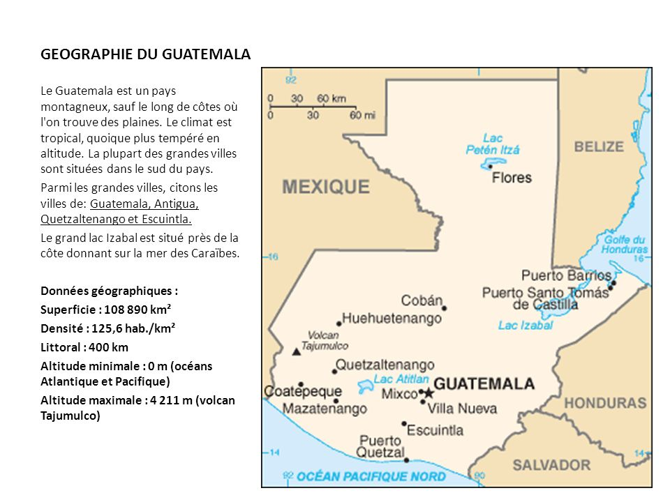 GEOGRAPHIE DU GUATEMALA