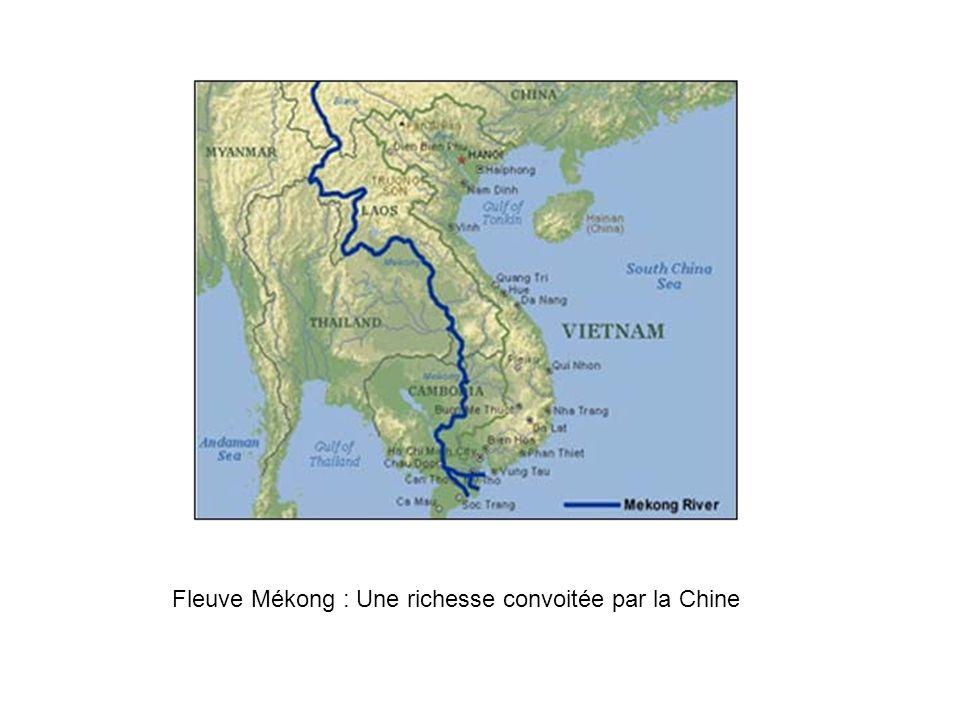 Fleuve Mékong : Une richesse convoitée par la Chine