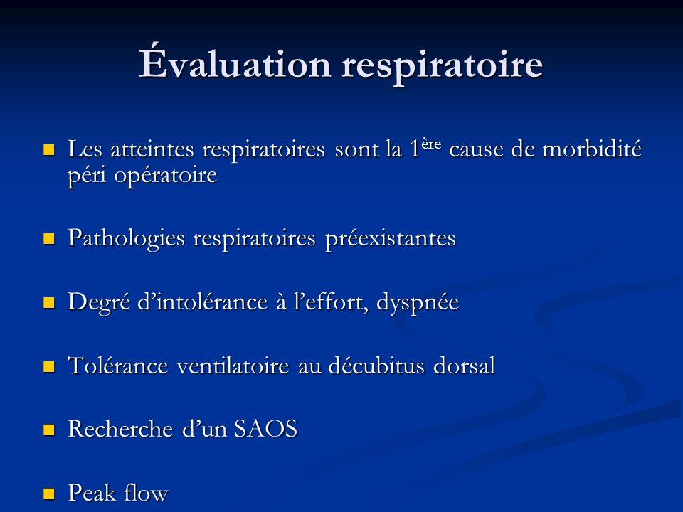 Évaluation respiratoire