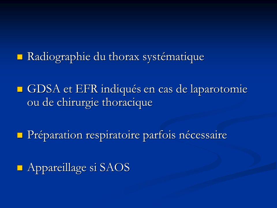 Radiographie du thorax systématique