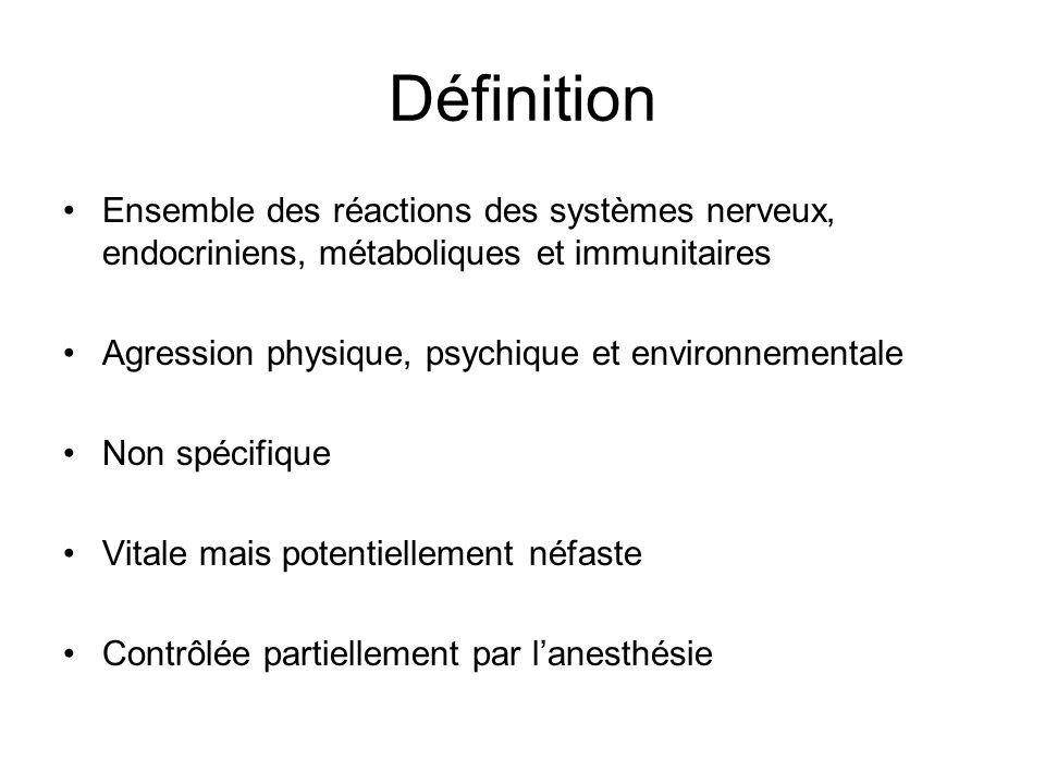 Définition Ensemble des réactions des systèmes nerveux, endocriniens, métaboliques et immunitaires.