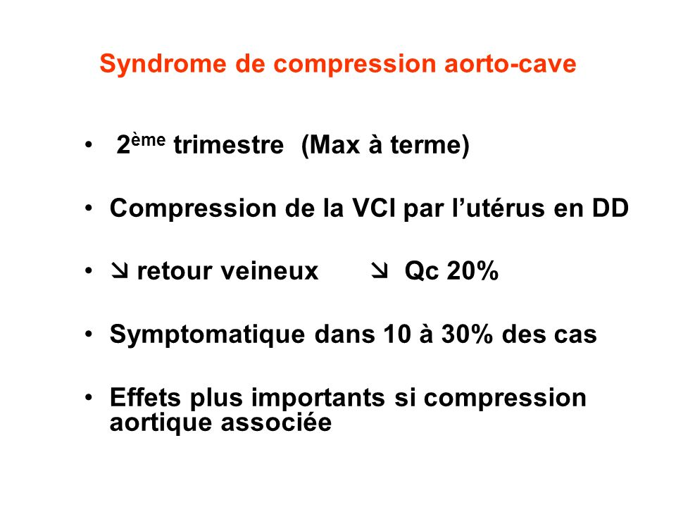 Syndrome de compression aorto-cave