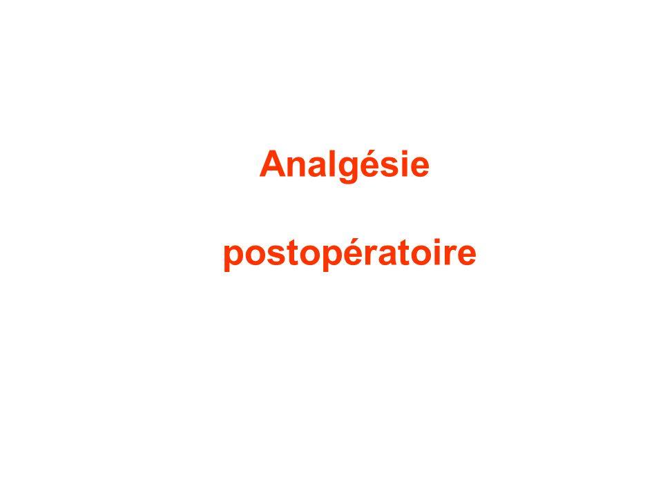 Analgésie postopératoire