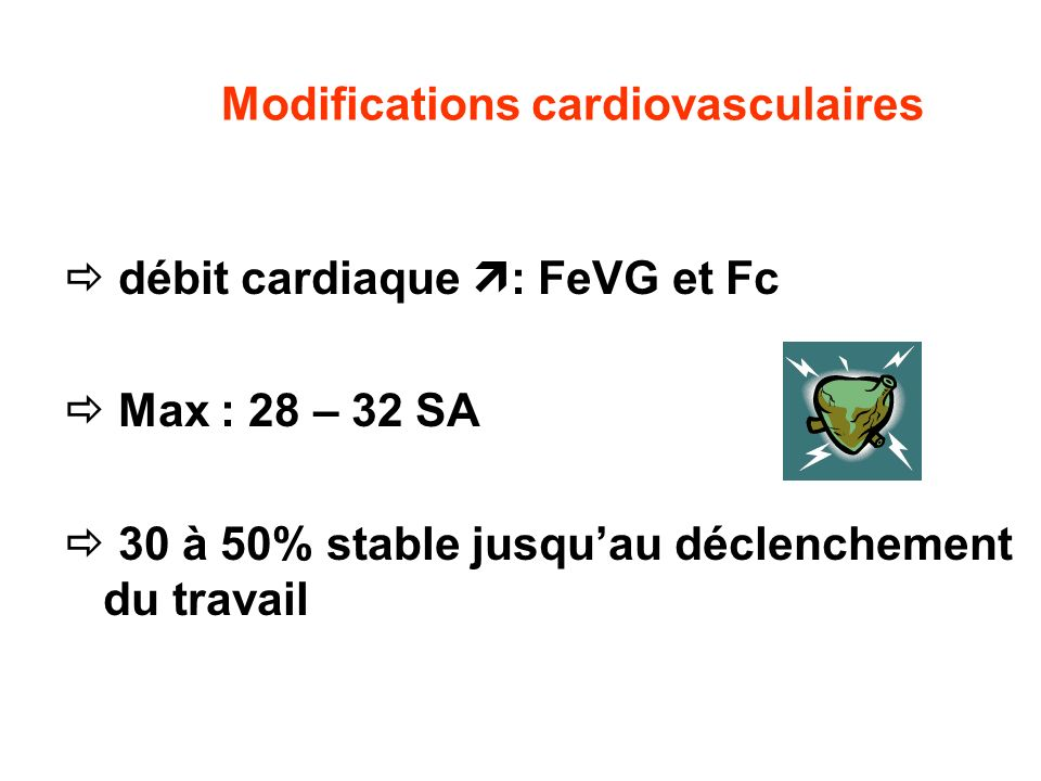 Modifications cardiovasculaires