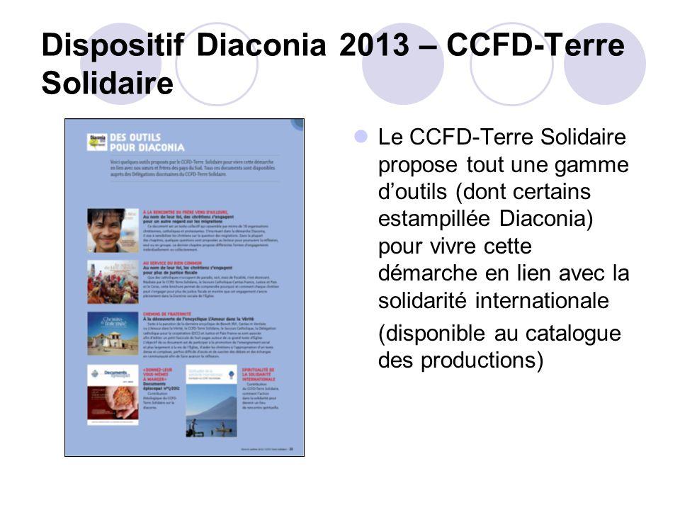 Dispositif Diaconia 2013 – CCFD-Terre Solidaire