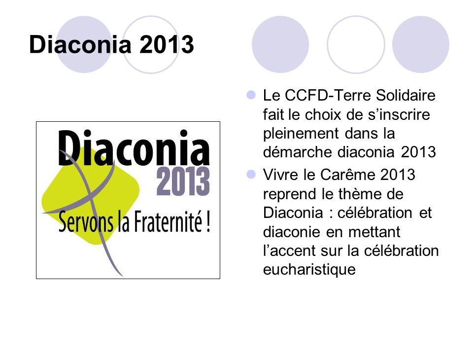Diaconia 2013Le CCFD-Terre Solidaire fait le choix de s'inscrire pleinement dans la démarche diaconia 2013.