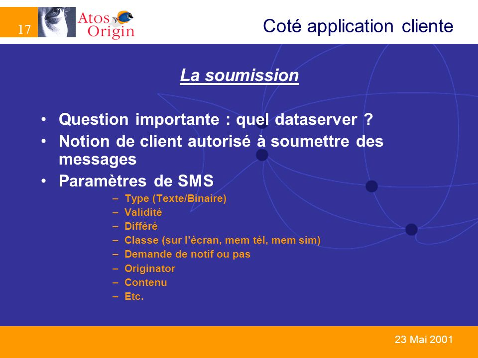 Coté application cliente