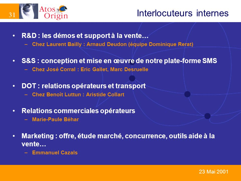 Interlocuteurs internes