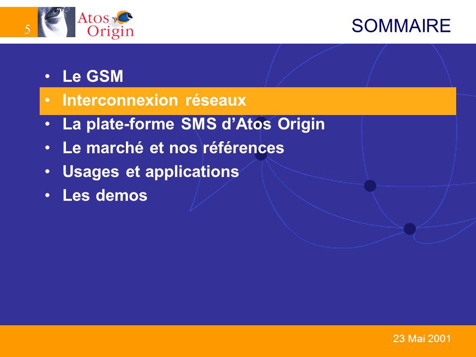 SOMMAIRE Le GSM Interconnexion réseaux