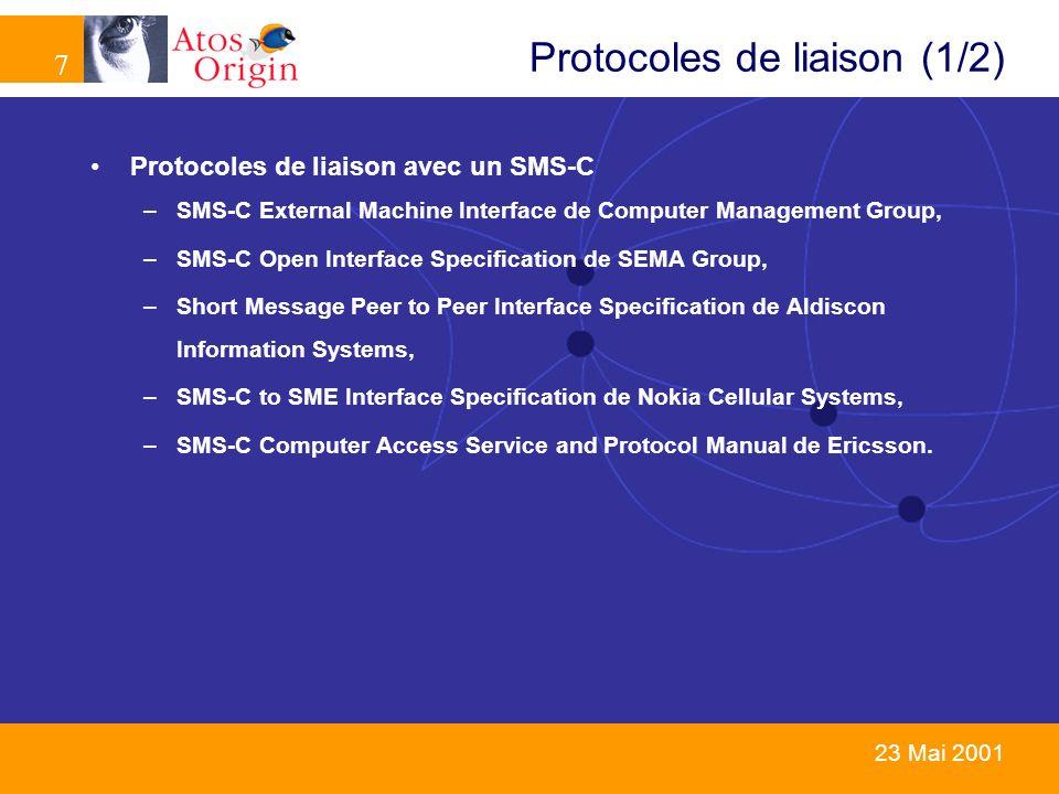 Protocoles de liaison (1/2)
