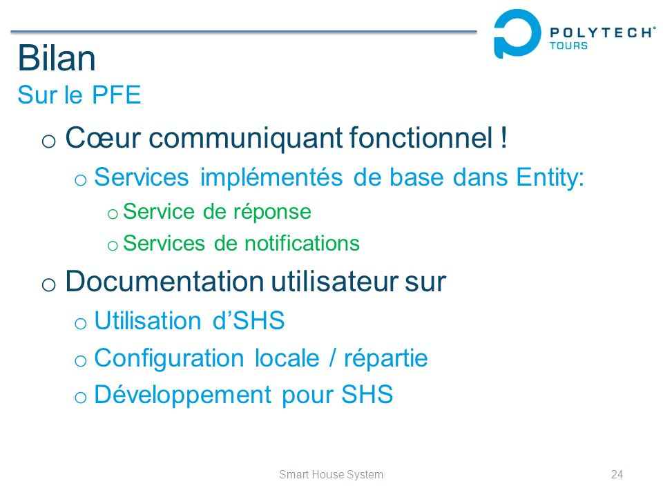 Bilan Sur le PFE Cœur communiquant fonctionnel !