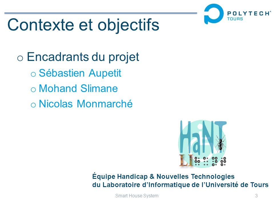 Contexte et objectifs Encadrants du projet Sébastien Aupetit