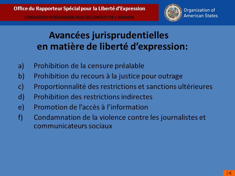 Avancées jurisprudentielles en matière de liberté d'expression: