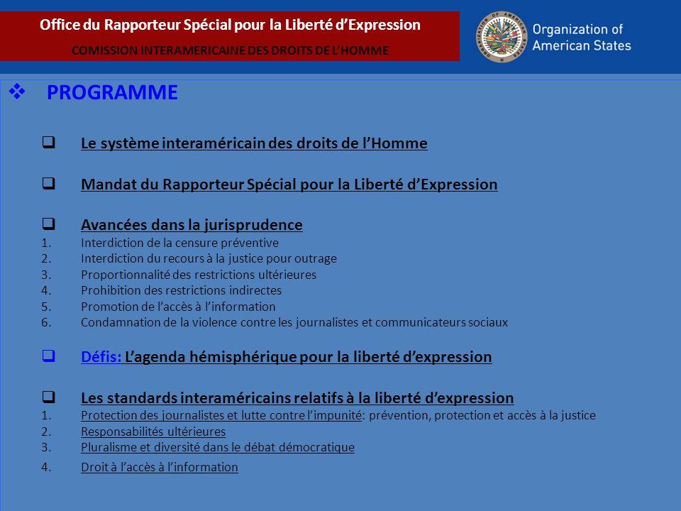 PROGRAMME Le système interaméricain des droits de l'Homme