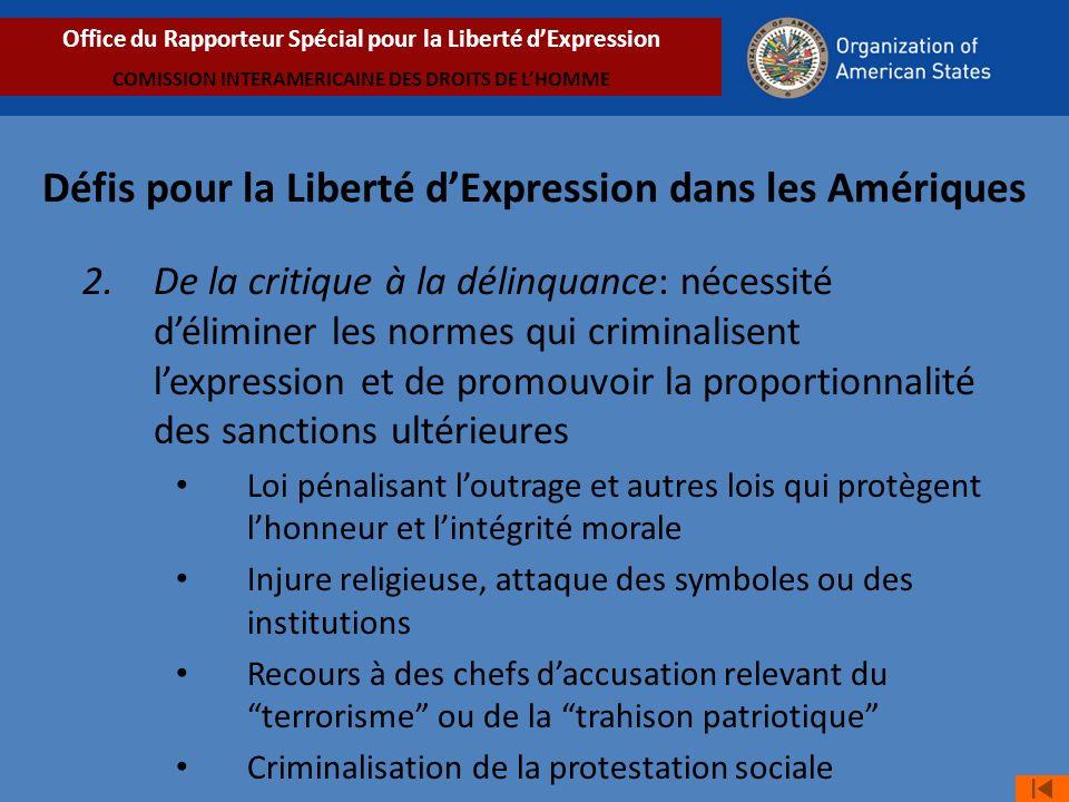 Défis pour la Liberté d'Expression dans les Amériques
