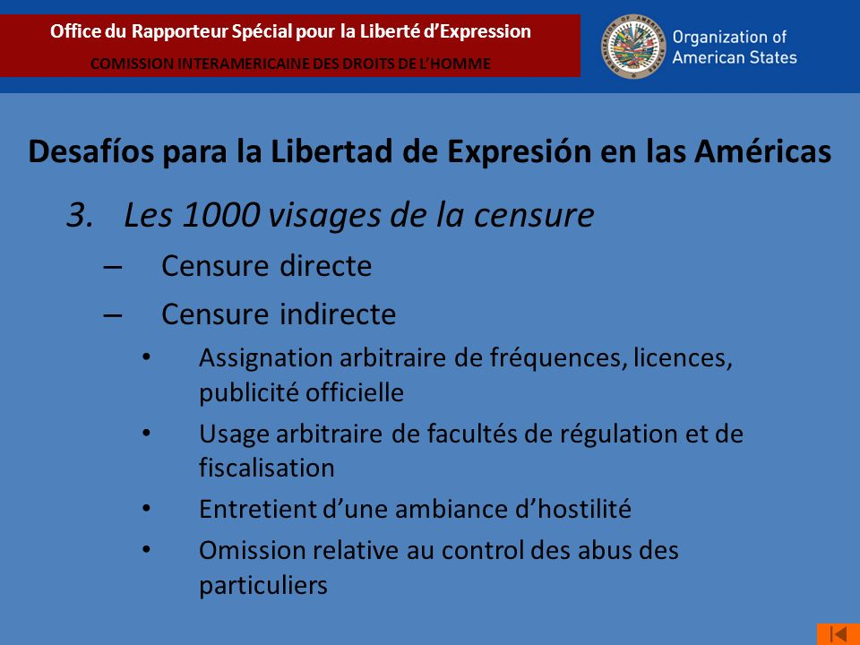 Desafíos para la Libertad de Expresión en las Américas