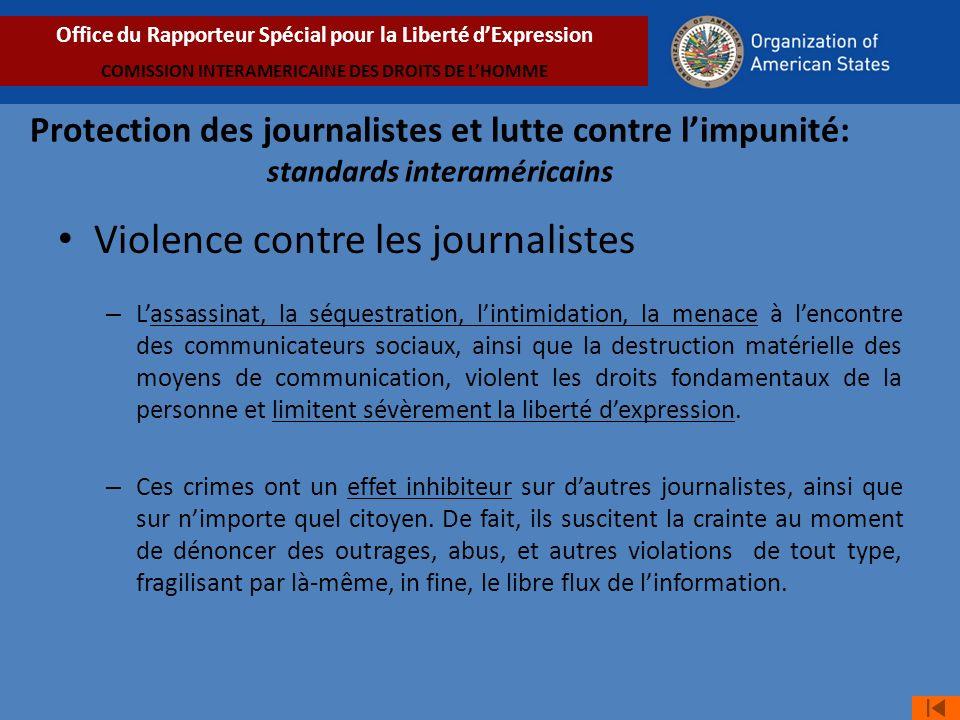 Violence contre les journalistes
