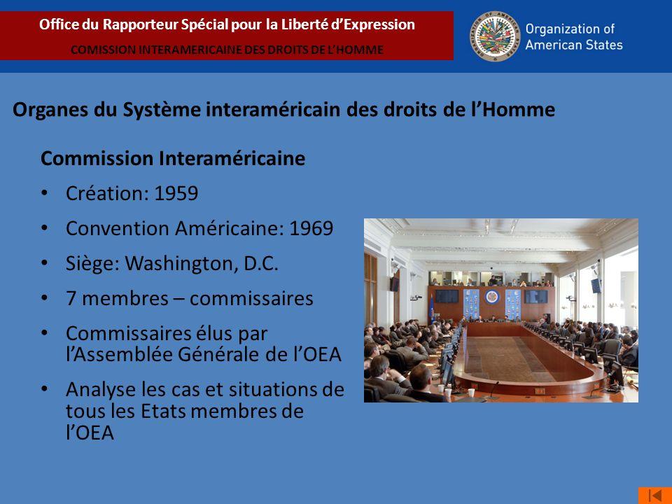 Organes du Système interaméricain des droits de l'Homme