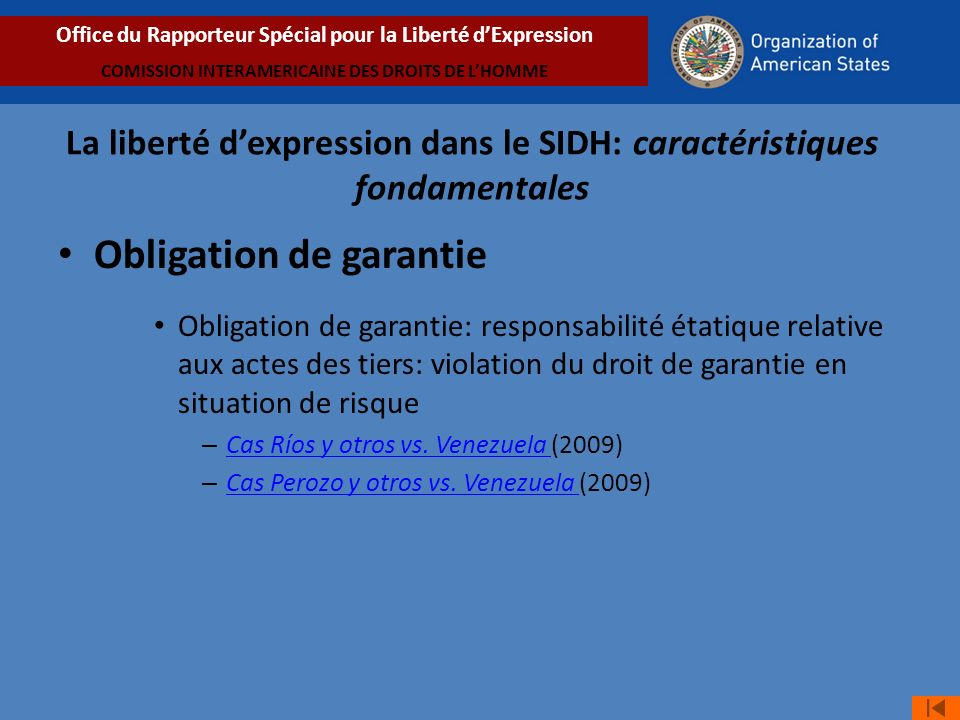 Obligation de garantie