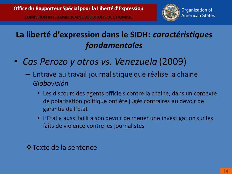 Cas Perozo y otros vs. Venezuela (2009)