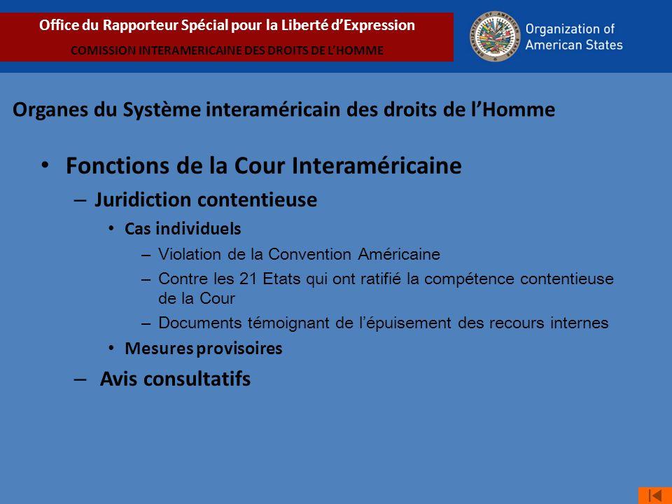 Fonctions de la Cour Interaméricaine