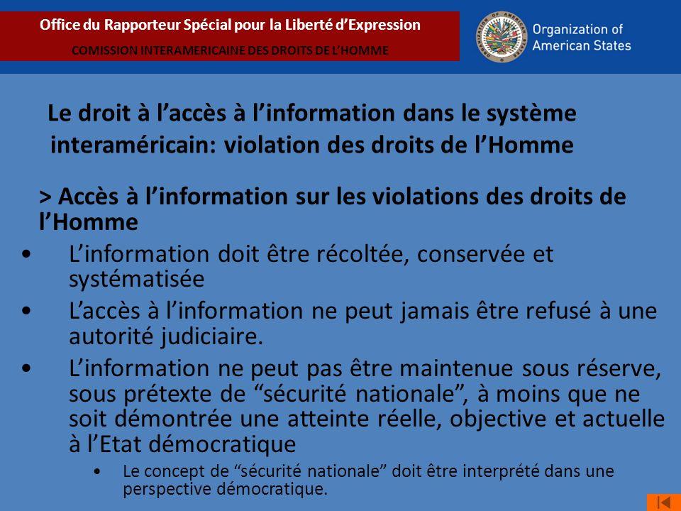 > Accès à l'information sur les violations des droits de l'Homme